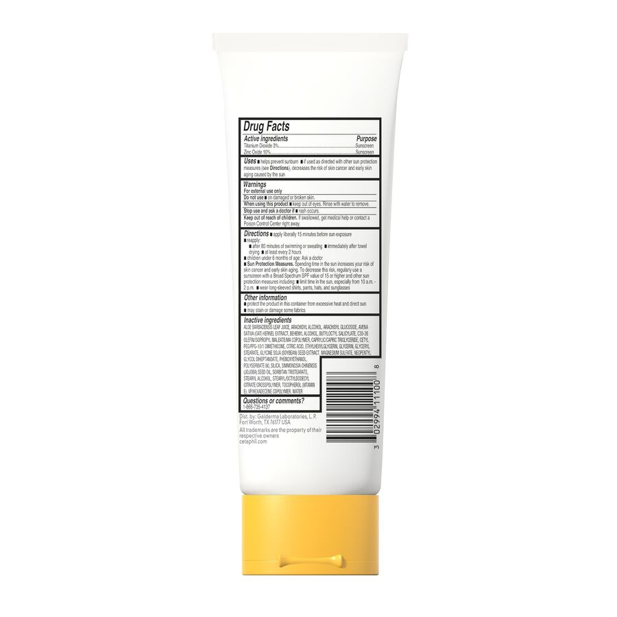 Cetaphil Sun Sheer Mineral Sunscreen Lotion for Face and Body, SPF 30, 3 oz, , large image number 1