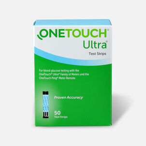 OneTouch Ultra Blue Blood Glucose Test Strip (50 count)