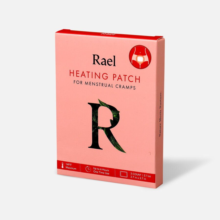 Rael Heating Patch for Menstrual Cramps, 3ct, , large image number 2