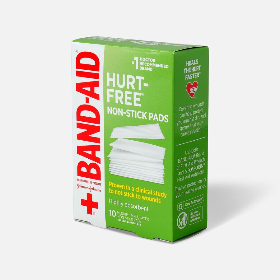 """Johnson & Johnson Band-Aid First Aid Non-Stick Pads 2"""" x 3"""" - 10ct, , large image number 2"""