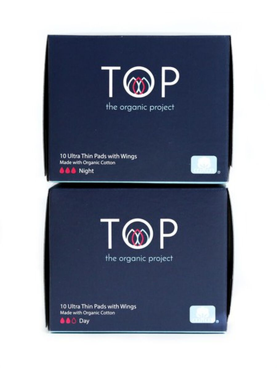 TOP Organic Cotton Ultra Thin Period Pads with Wings, , large image number 9