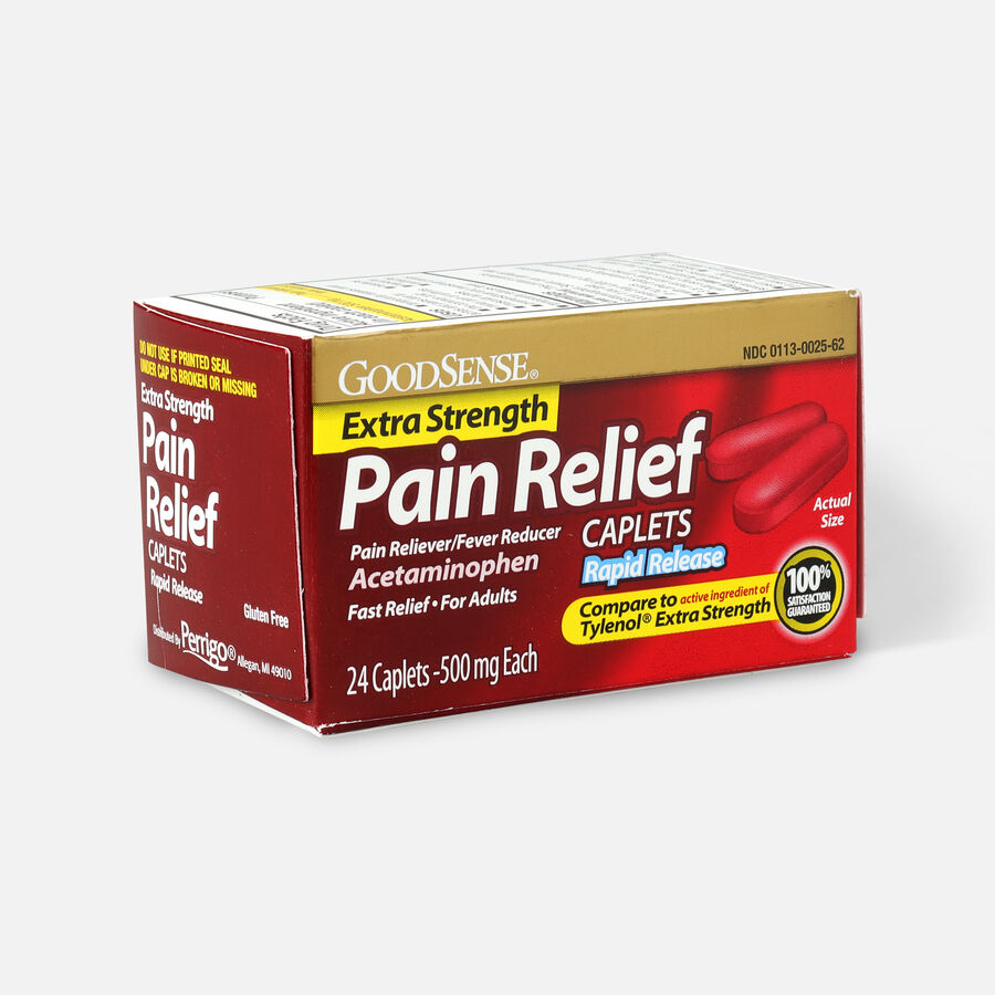 GoodSense® Pain Relief Extra Strength 500 mg Rapid Release Caplets, , large image number 6