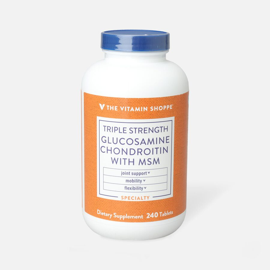 Vitamin Shoppe Triple Strength Glucosamine Chondroitin With MSM, Tablets, , large image number 1