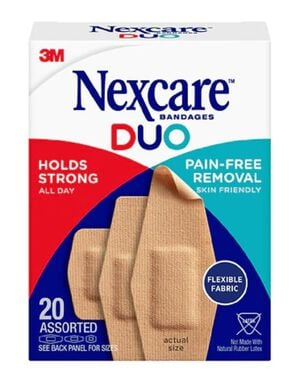 Nexcare DUO Bandage, Assorted, 20ct