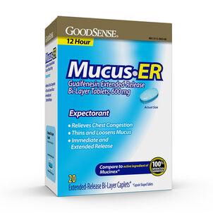GoodSense® Mucus ER 600MG Bi Layer Tablets, 20 count