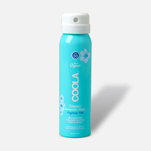 Coola Classic Body Organic Sunscreen Spray SPF 50, Unscented - Travel Size