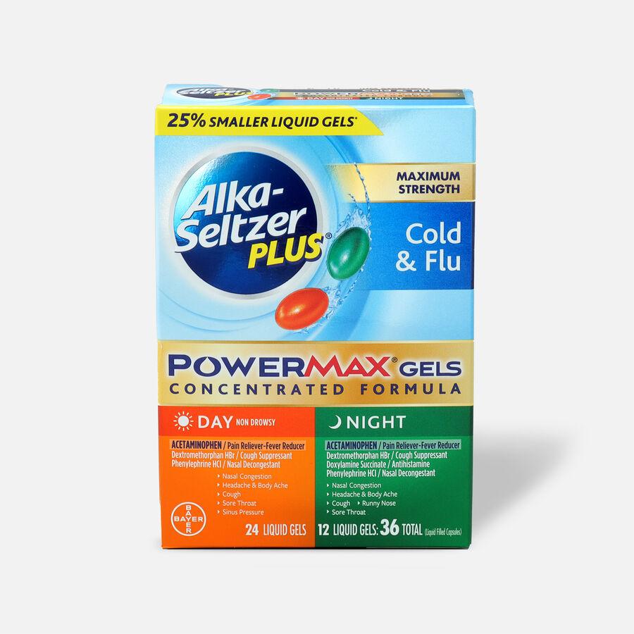 Alka-Seltzer Plus PowerMax Gels, Cold & Flu, Day & Night, , large image number 0