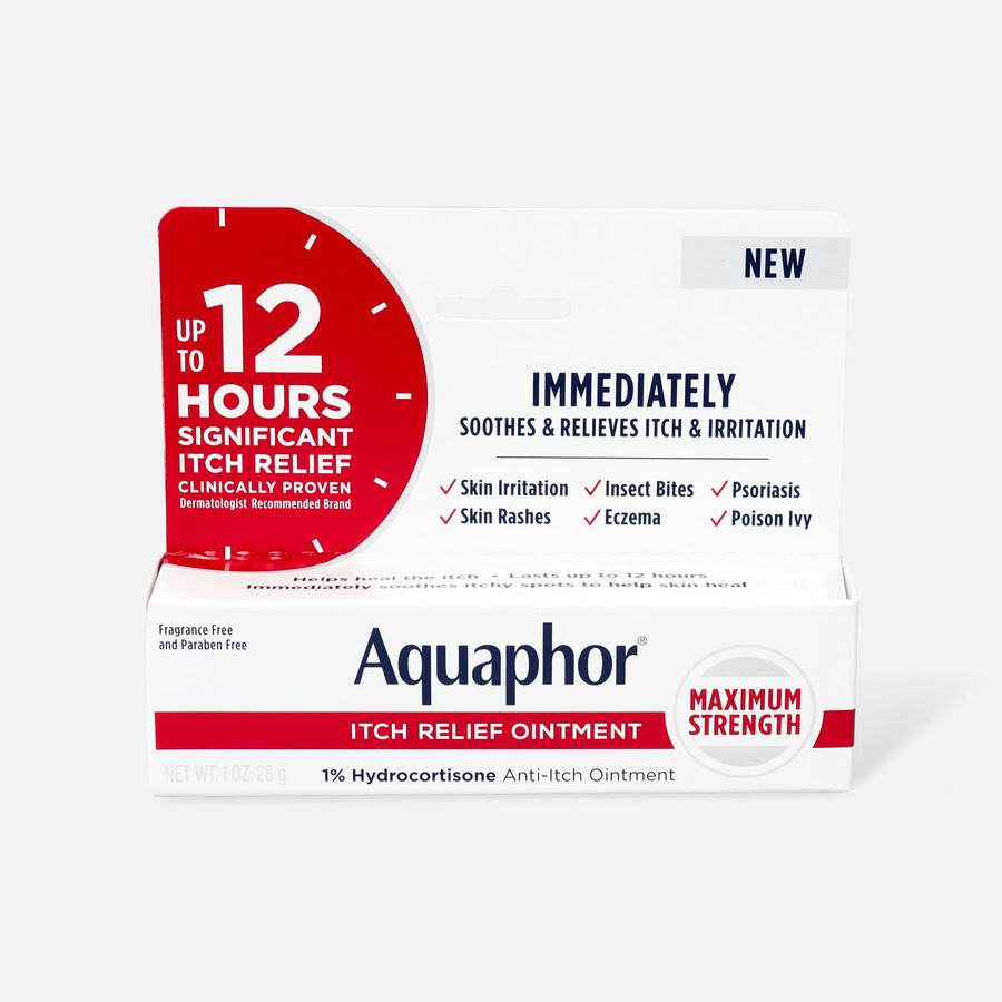 Aquaphor Itch Relief Ointment, 1% Hydrocortisone, 1oz., , large image number 0