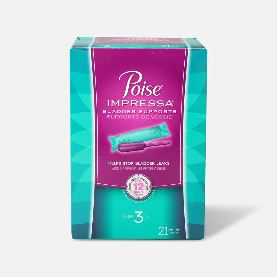 Poise Impressa Bladder Supports for Women, 21 Count, , large image number 4