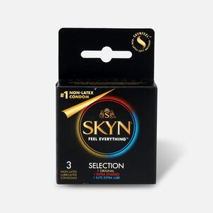LifeStyles SKYN Non-Latex Condom Selection, 3 Count