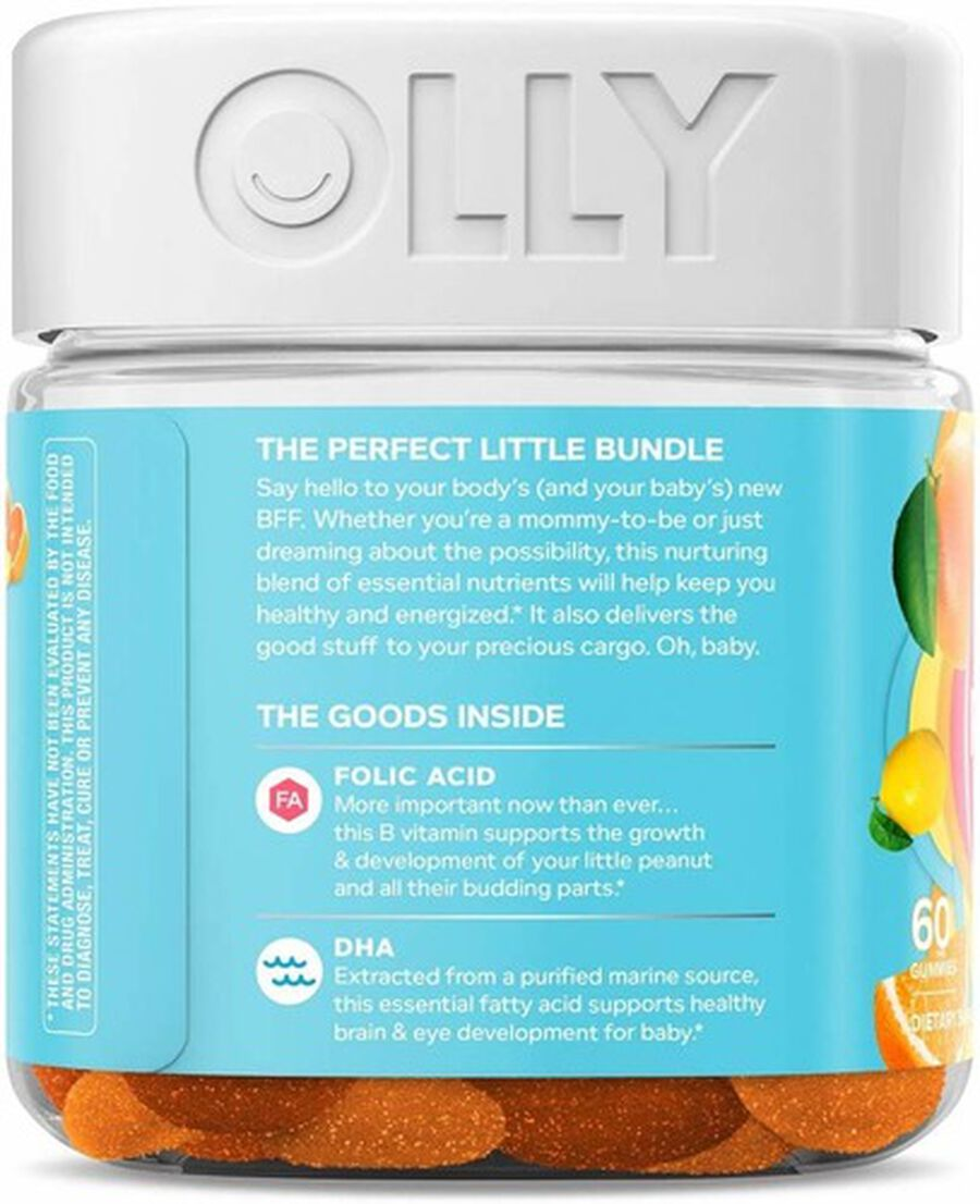 OLLY The Essential Prenatal Gummy Multivitamin, Sweet Citrus, 30 Day Supply, 60ct, , large image number 2
