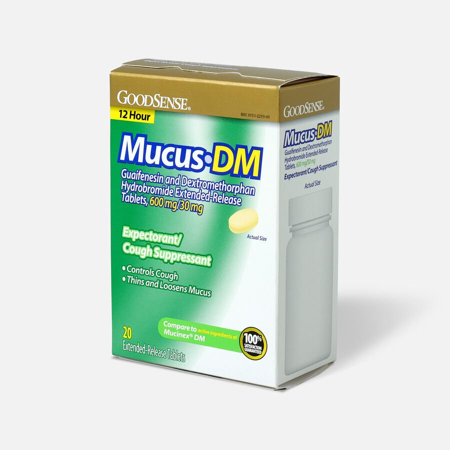 GoodSense® Mucus DM, Extended-Release Tablets, 600 mg/30 mg, 20 ct, , large image number 2