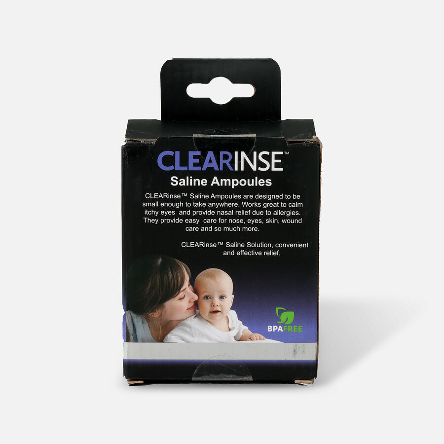 CLEARinse Nasal Cleaning Aspirator Saline Ampoules, , large image number 1