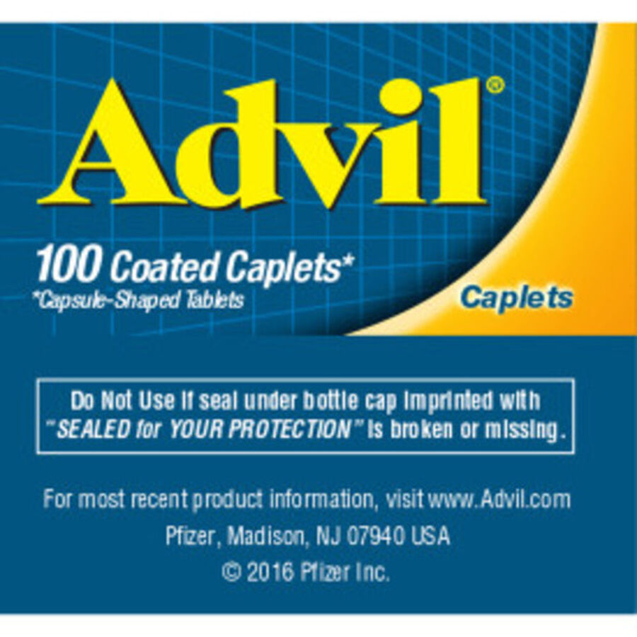 Advil Pain Reliever and Fever Reducer Coated Caplets, 200mg, 100 ct, , large image number 7
