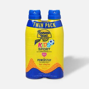 Banana Boat Kids Sport Sunscreen Spray SPF 50+, 12oz - Twin Pack