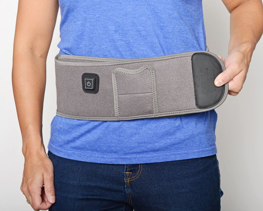 Battle Creek Embrace ™ Relief Back Wrap – Portable, 3 Temperature Settings, Auto Shut Off, Wireless & Rechargeable Wrap, Battery-Operated Heat Therapy Wrap for Back Pain Relief, , large image number 23