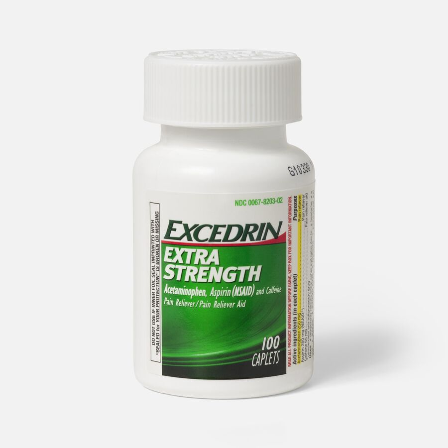 Excedrin Extra Strength Caplets, 100 ct, , large image number 1
