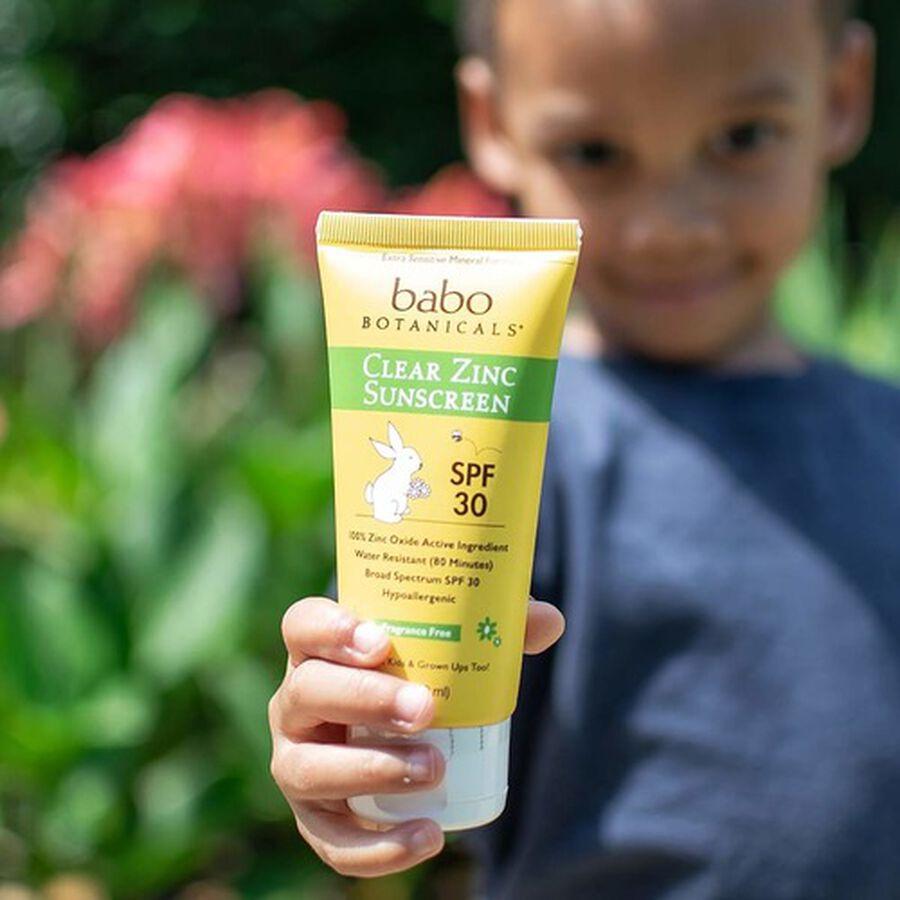 Babo Botanicals Clear Zinc Sunscreen Lotion SPF 30, 3oz. - 2 Pack, , large image number 6