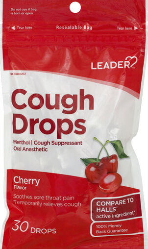 LEADER™ Cough Drops Cherry 30 ct
