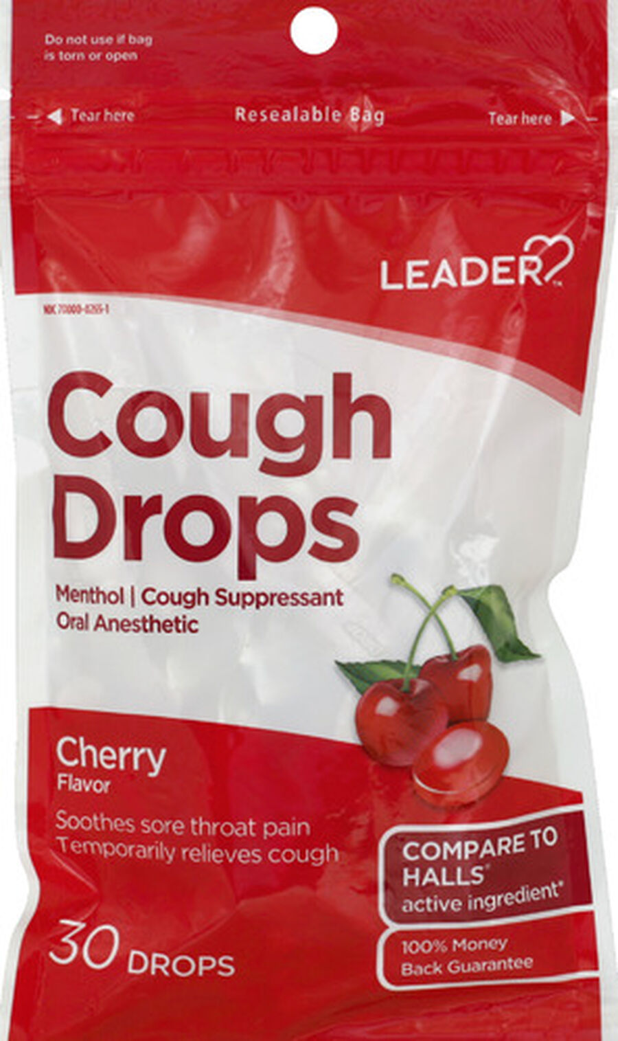 LEADER™ Cough Drops Cherry 30 ct, , large image number 0