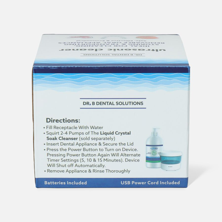 Dr. B Dental Solutions Sonic Cleaner Vibrating Denture Bath, , large image number 2