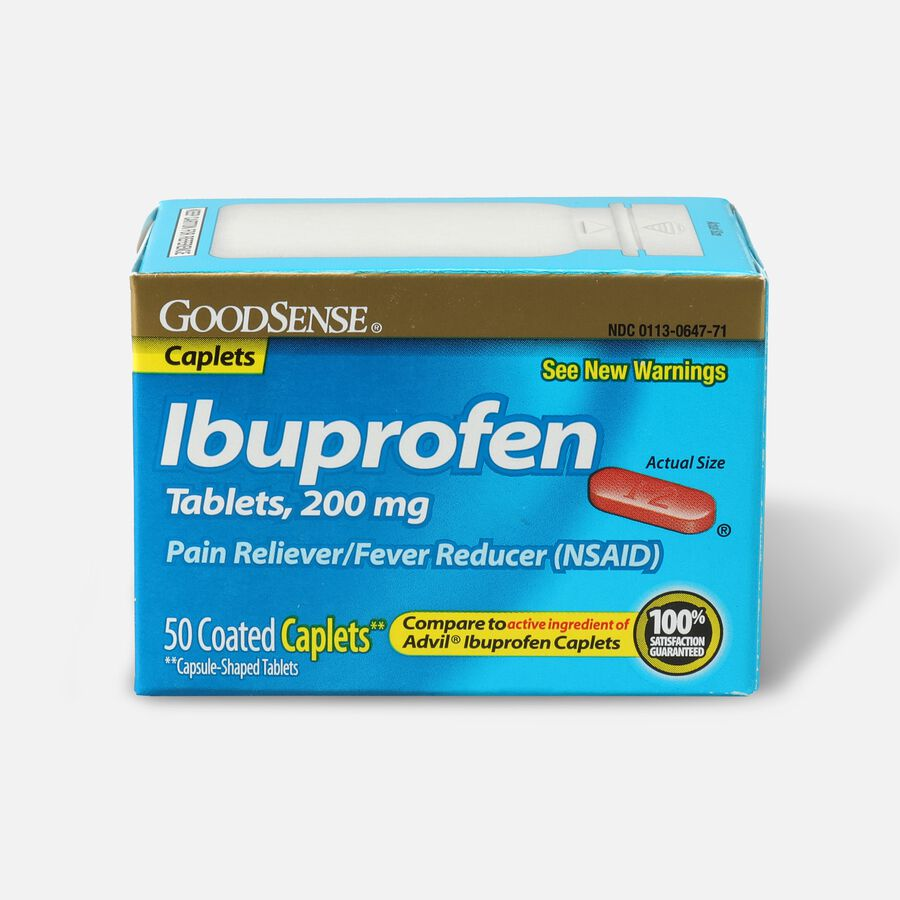 GoodSense® Ibuprofen Coated Caplets 200 mg Pain Reliever and Fever Reducer, , large image number 1
