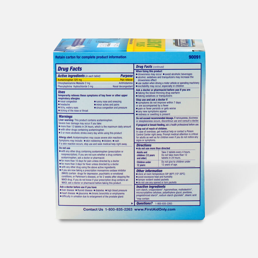PhysiciansCare Allergy Plus, 50 x 2/Box, , large image number 1
