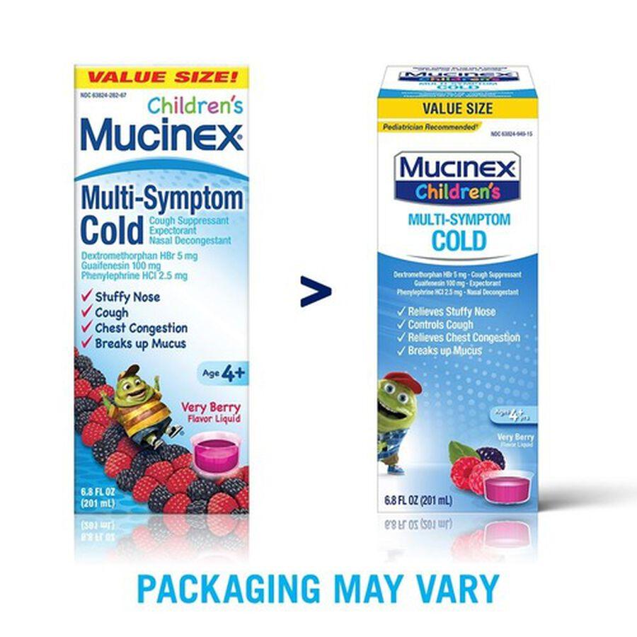 Mucinex Children's Multi-Symptom Liquid Cold, Very Berry, 4 oz, , large image number 5