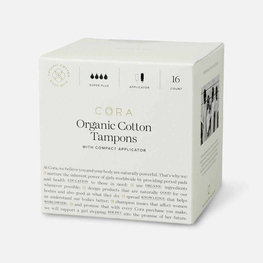 Cora Organic Cotton Applicator Tampons, 16 ct, , large image number 13