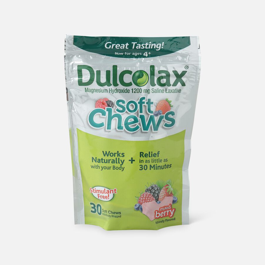 Dulcolax Soft Chews, Berry Flavored, 30 ct, , large image number 0