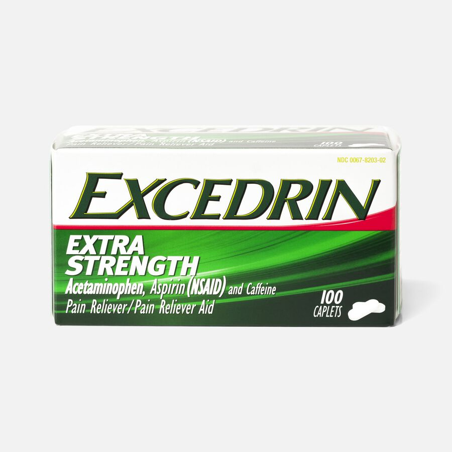 Excedrin Extra Strength Caplets, 100 ct, , large image number 0