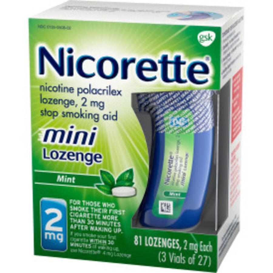 Nicorette Mini Nicotine Lozenges, Mint, 2mg, 81 ct, , large image number 6