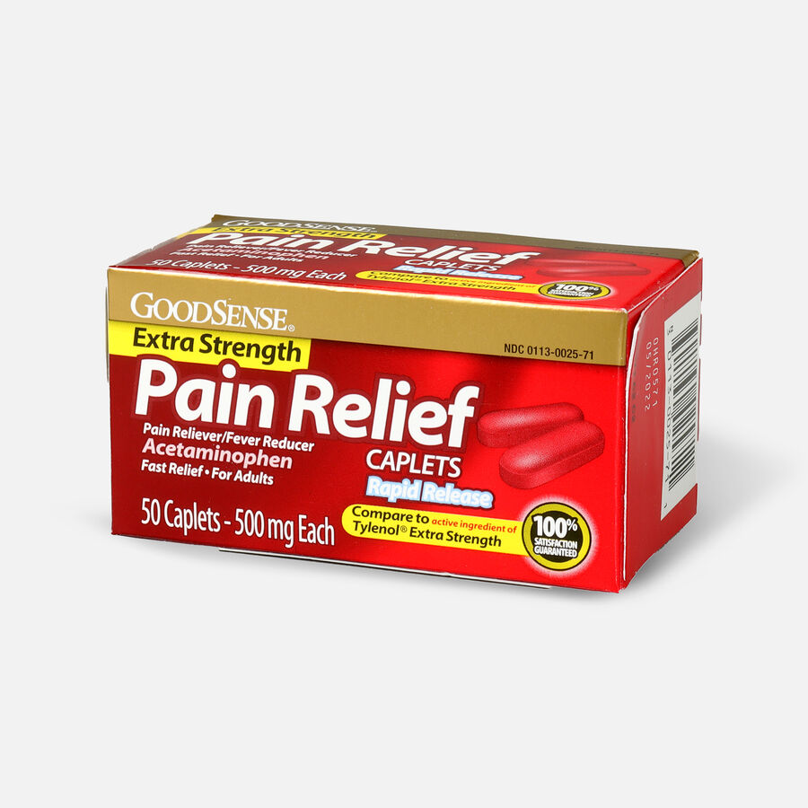 GoodSense® Pain Relief Extra Strength 500 mg Rapid Release Caplets, , large image number 11