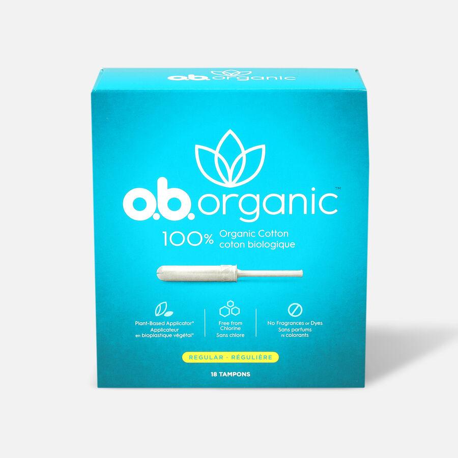 o.b. Organic Tampon with Applicator 18ct, , large image number 0