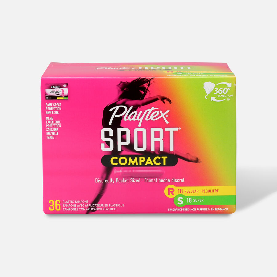 Playtex Sport Compact Tampons, Unscented, , large image number 0