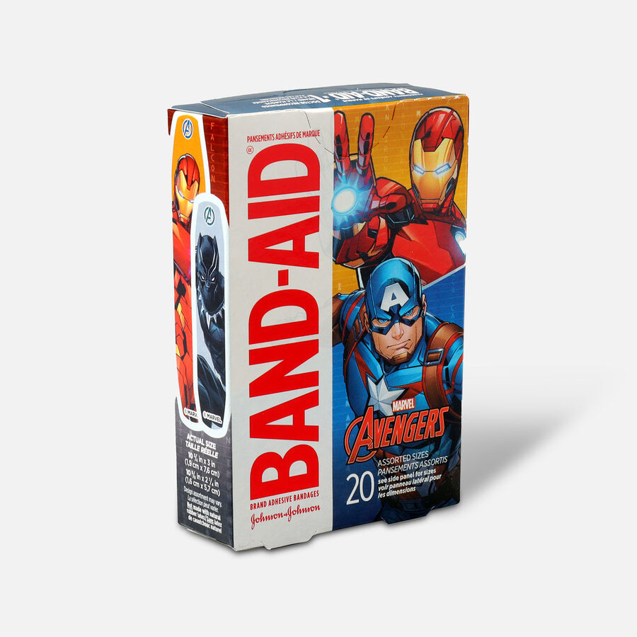 Band-Aid Adhesive Assorted Bandages Marvel Avengers, 20 ct., , large image number 2
