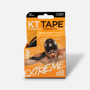 KT Tape Pro Extreme, Extra Strength Adhesive, Black, 20 ct