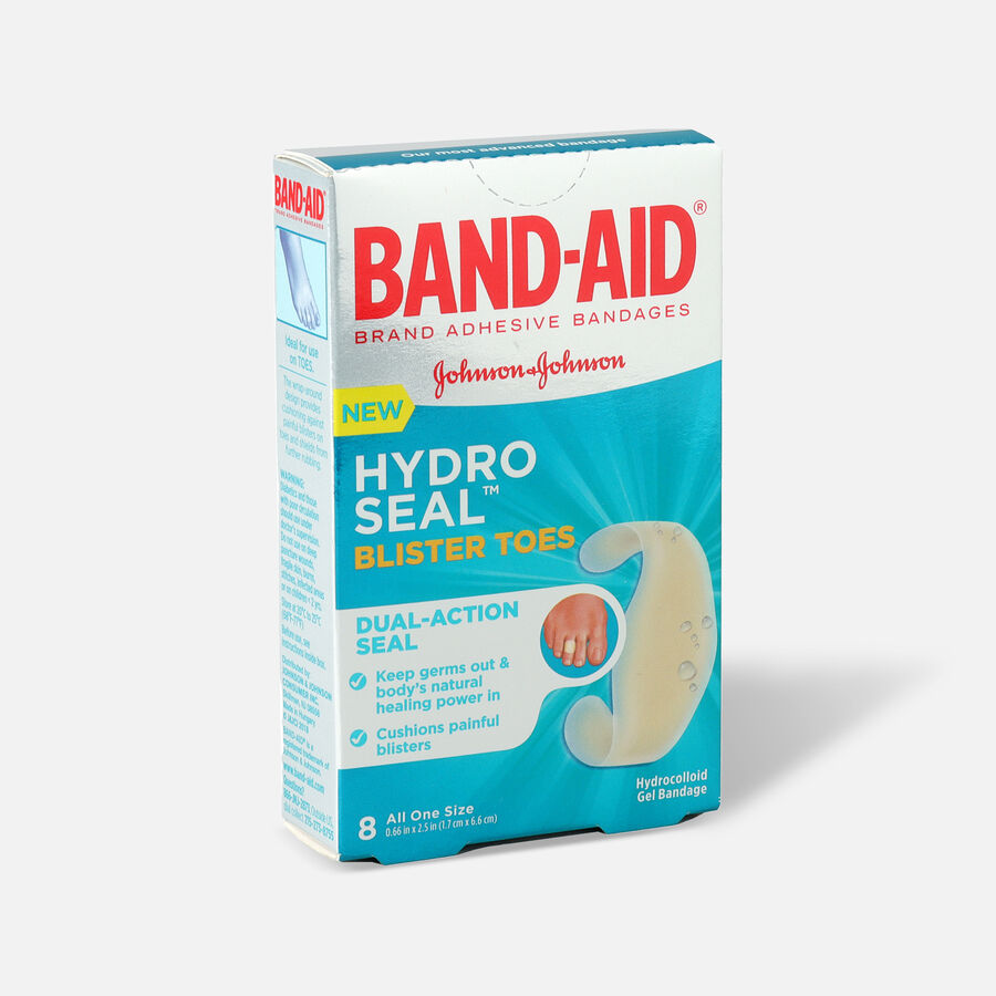 Band-Aid Hydro Seal Adhesive Blister Toe Bandages, 8 Count, , large image number 2