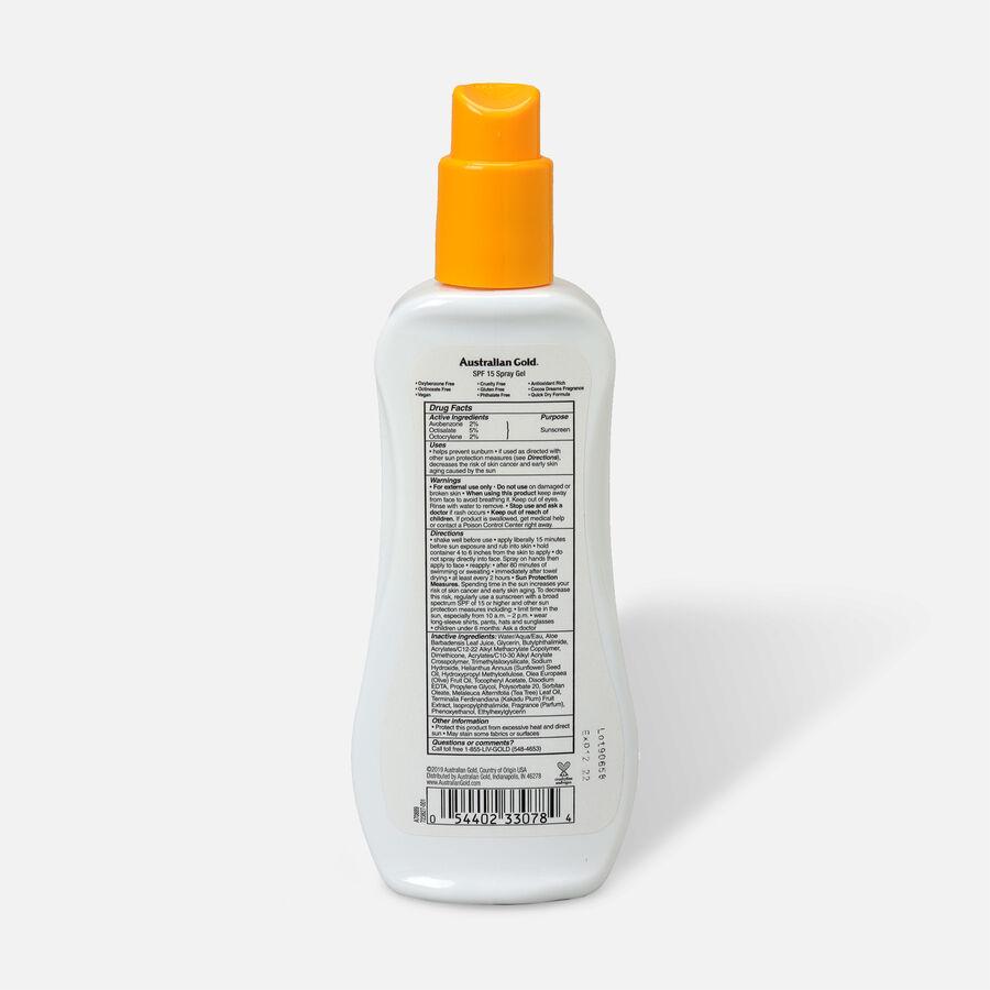 Australian Gold Spray Gel, SPF 15, 8oz., , large image number 1
