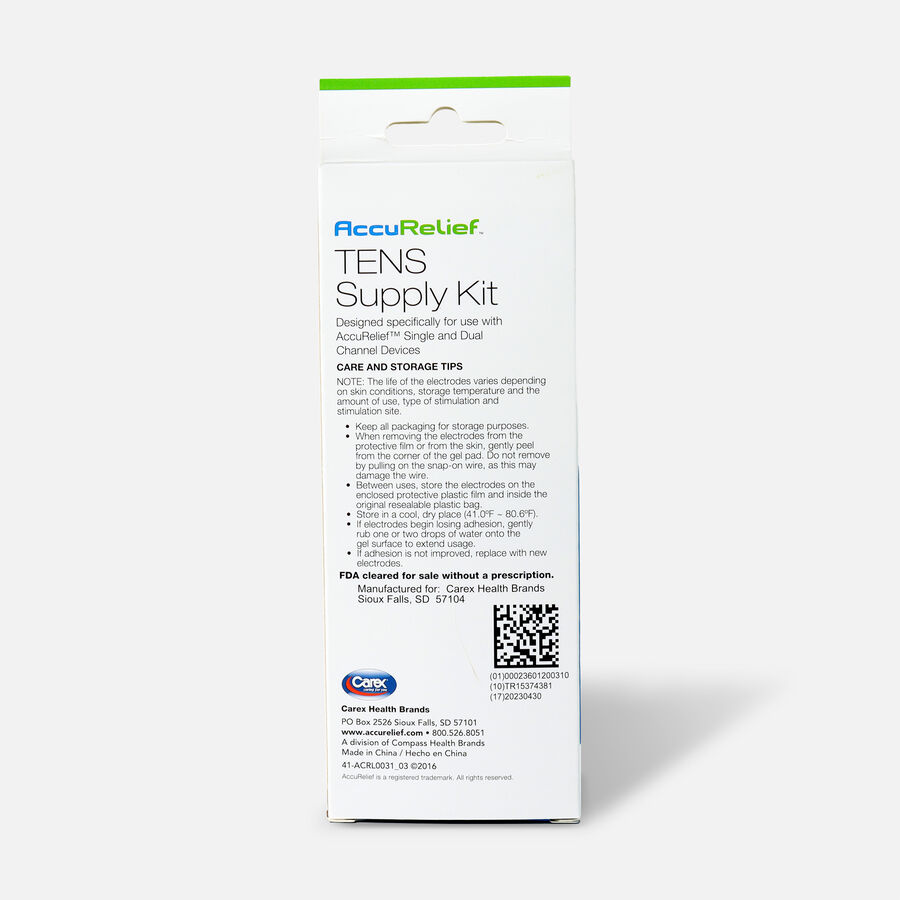 AccuRelief TENS Supply Kit , , large image number 1