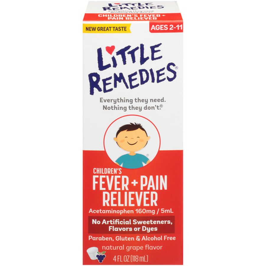 Little Fevers Infant Fever & Pain Reliever, Dye-Free Grape, 4 oz, , large image number 0