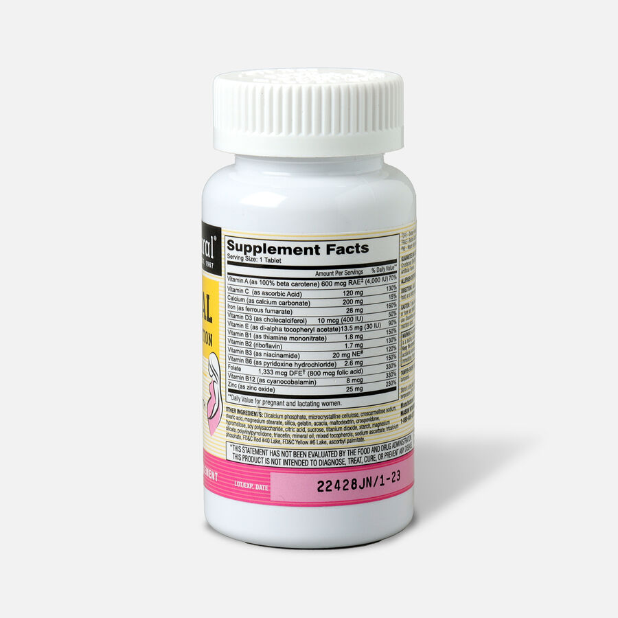 Mason Natural MasNatal Multivitamin/Multimineral Supplement, 100 tablets, , large image number 1