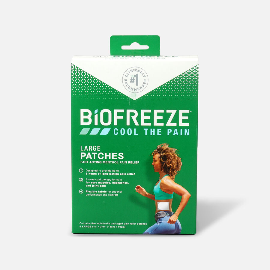 Biofreeze Pain Relief Patch, Large, 5ct, , large image number 0