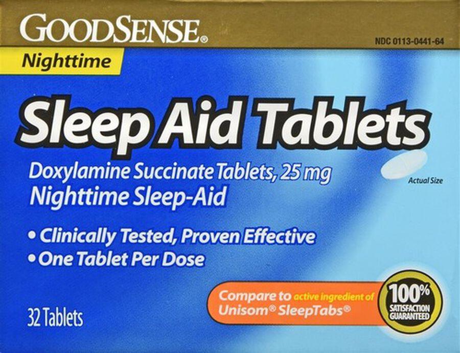 GoodSense® Sleep Aid 25 MG Tablets, 32 ct, , large image number 0