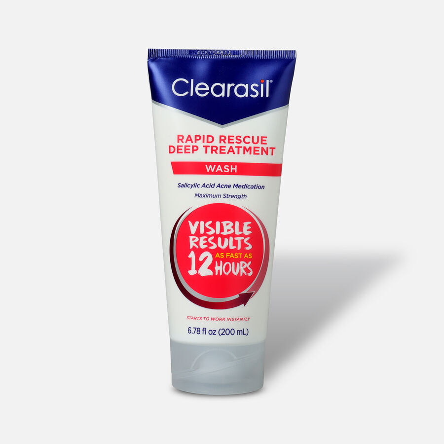Clearasil Rapid Rescue Deep Treatment Wash, 6.78oz, , large image number 0