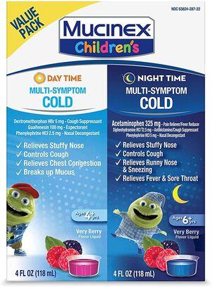 MUCINEX Children's Liquid, Multi-Symptom Day and Night, 2-Pack