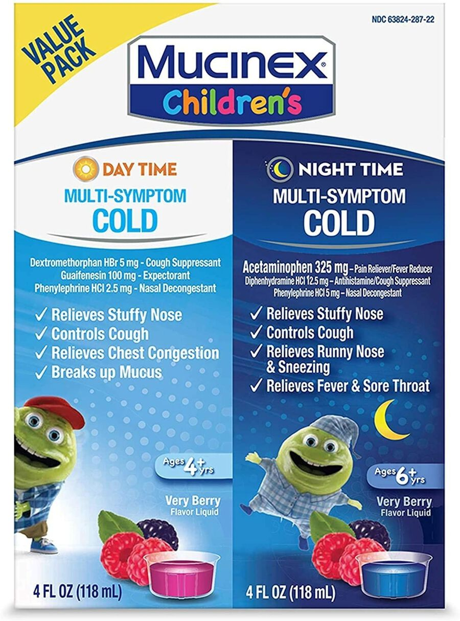 MUCINEX Children's Liquid, Multi-Symptom Day and Night, 2-Pack, , large image number 0