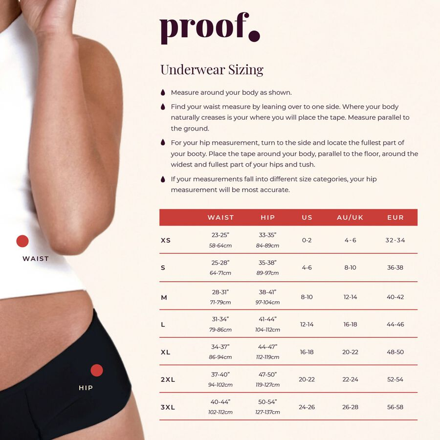 Proof® Period Underwear - Lace Cheeky (3 tampons / 6 tsps), , large image number 7