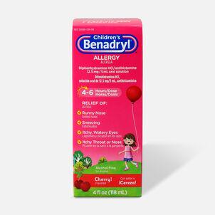 Children's Benadryl Oral Solution, Cherry Flavored
