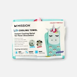 Mission Kid's Fever Relief Cooling Towel - Winter The Unicorn